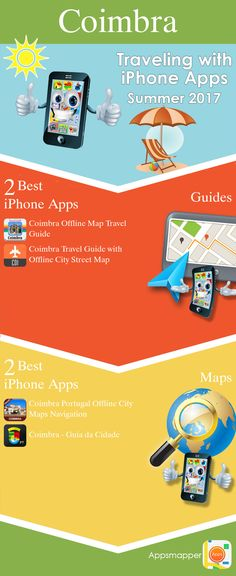 Coimbra iPhone apps: Travel Guides, Maps, Transportation, Biking, Museums, Parking, Sport and apps for Students.