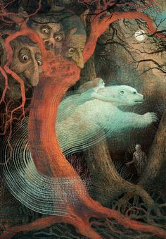 """""""Father Christmas: A Wonder Tale of the North"""" by Charles Vess, illustration by Anna & Elena Balbusso."""