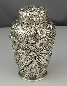 Sterling Tea Caddy...just so elegant, the boys would appreciate the touch of class........