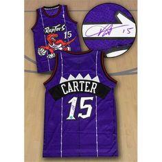 9bd56eff81d0 Autograph Authentic CARV429000 Vince Carter Toronto Raptors Autographed  Purple Rookie NBA Swingman Jersey. Nba Swingman JerseyTracy Mcgrady ...