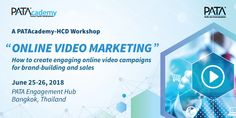 The 10th PATAcademy-HCD, under the theme 'Online Video Marketing – How to create engaging online video campaigns for brand-building and sales', takes place at the Pacific Asia Travel Association (PATA) Engagement Hub in Bangkok, Thailand on June 25-26, 2018.
