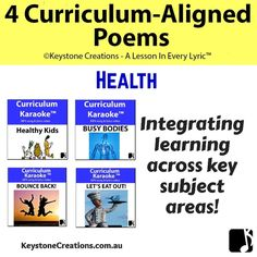 4 CURRICULUM-ALIGNED POEMS (Grades Various) ~ Health Curriculum, Homeschool, Human Body Systems, Karaoke Songs, Home Learning, Instagram Blog, Student Engagement, Business For Kids, In Writing