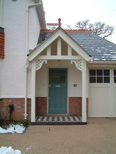 Modern Country Style: The Miracle Of Changing The Exterior Of Your Home Click through for details. Porch Windows, Porch Doors, Bay Windows, Porch Styles, Modern Country Style, Victorian Cottage, House Front, House Porch, Exterior Remodel