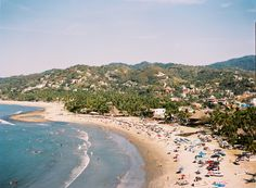 Sayulita in high season. Kodak Portra 160.
