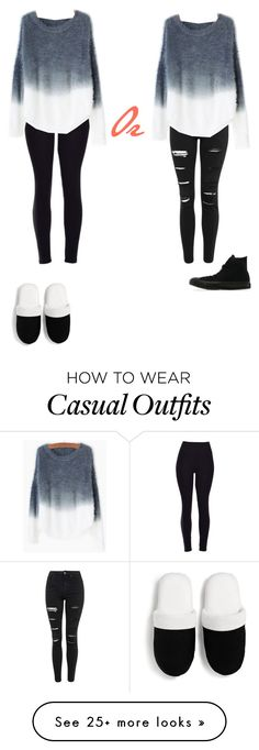 """""""COMFY OR CASUAL"""" by plastic-diamond-rings on Polyvore featuring Topshop, Converse, Versace, women's clothing, women's fashion, women, female, woman, misses and juniors"""