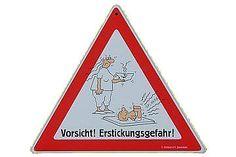 Warnschilder Vorsicht! Erstickungsgefahr!