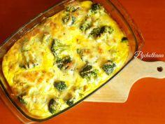 zapiekanka serowa z brokułem i kurczakiem