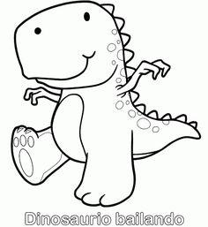 Dibujo de Estegosaurio beb para colorear  Dibujos de Dinosaurios