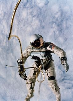 Gemini 4 astronaut Ed White walks in space, June 3, 1965. (NASA)