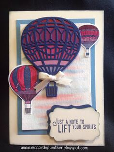 Stampin' Up! Occasions 2017, Lift Me Up, Up and Away thinlits