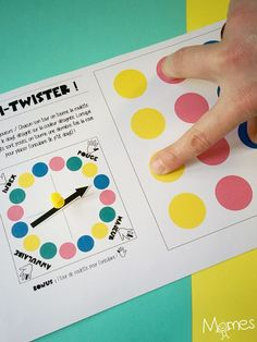 Twister à doigts à imprimer - - Twister mit den Fingern zum Ausdrucken - zu # - Twister Game, Games For Kids, Diy For Kids, Crafts For Kids, Dvd Case Crafts, Pediatric Ot, Homemade Playdough, Diy Games, Activities For Kids