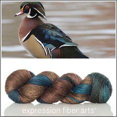 Expression Fiber Arts, Inc. - WOOD DUCK ALPACA SILK DK, $33.00 (http://www.expressionfiberarts.com/products/wood-duck-alpaca-silk-dk.html)