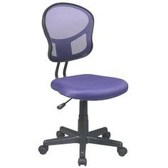 Task Chair: Office Star Mesh Task Chair - Purple