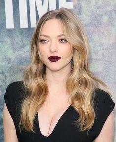 heller teint blonde haare bordeaux lippenstift #makeup