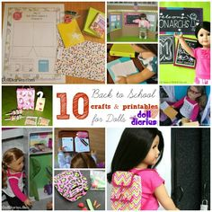 10 Back to School Crafts and Activities for Dolls