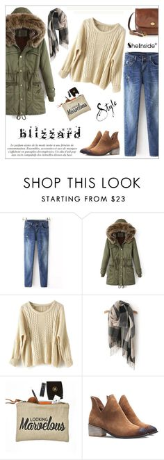 """Brrrrr! Winter Blizzard"" by aurora-australis ❤ liked on Polyvore featuring The Bridge, Sheinside, polyvoreeditorial and blizzard"