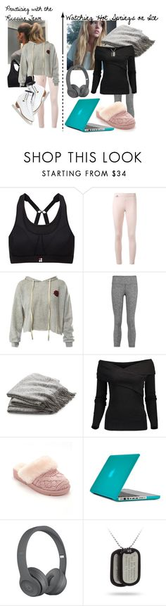 """""""I Am Eros, and Eros is Me?! Face-Off! Hot Springs on Ice"""" by frootloop16 ❤ liked on Polyvore featuring Sweaty Betty, adidas, Sans Souci, Riedell, Koral, Crate and Barrel, Brunello Cucinelli, UGG and Speck"""
