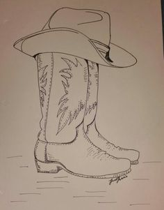 Free Cowboy boot outline Vector of 39 Hand drawn sketch of
