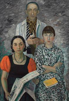 Gino Severini (1883-1966), 1936, La famille du peintre (The family of the painter.) © ADAGP, Paris 2015 © Lyon MBA – Photo Alain Basset #Italian #Futurism