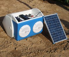 This instructable outlines a portable solar charging station, stereo, and LED light that is built into a playmate cooler. It is an all-in-one portable unit, as yo...