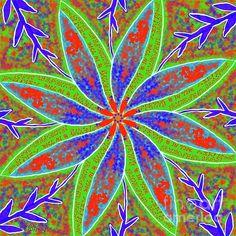 Spring is in the Air. Digital art by Caroline Street.  #FlowerArt, #Mandala, #Multicolor, #Spring #Flowerdesign Mandala Art, Flower Designs, Flower Art, Fine Art America, Digital Art, Instagram Images, Street View, Design Inspiration, Wall Art