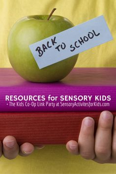 Back to School Tips for Typical AND Sensory Kids + The Weekly Kids Co-Op at SensoryActivitiesforKids.com #kids #sensory #backtoschool