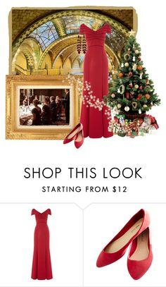 """Downton Abbey Style Christmas"" by shoppe23online on Polyvore featuring Adrianna Papell, Wet Seal, downtonabbey and Shoppe23"