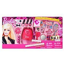 Barbie Beauty Salon Cosmetic Set by Marwkins. $28.50. 9 Shimmer Creams. 1 nail dryer. 18 Brilliant Lip Glosses. hair ties. 3 nail polishes. The Barbie Beauty Salon Cosmetic Set is the perfect gift, made to dazzle up those fabulous nails with a complete manicure!