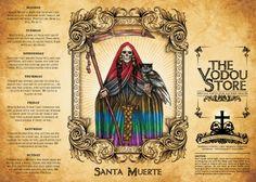 14-Day Candle Label - Santa Muerte (7 Colors)