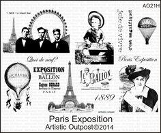 Stamps - Artistic Outpost Paris Exposition
