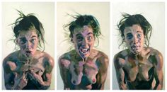 Eruption, Triptych, acrylic on canvas, 150 x 210 cm, 2007