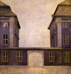 The Athenaeum - The Buildings of the Asiatic Company, seen from St. Anne Street (Vilhelm Hammershøi - )