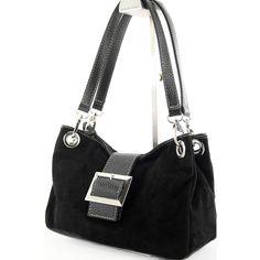 ital. Tasche Damentasche Handtasche Schultertasche Tragetasche Ledertasche Schwarz 313S
