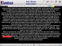 HIZLI OKUMA PROGRAMSIZ 4 (SPEED READING) KISACa - YouTube