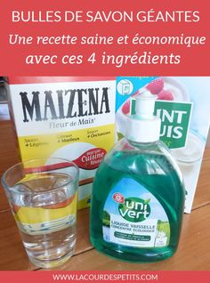 Un kit à bulles de savon géantes fait maison Games For Kids, Diy For Kids, Activities For Kids, Crafts For Kids, Montessori Activities, Soap Bubbles, Tips & Tricks, Home Made Soap, Diy Projects To Try