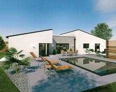 Un Vaste Plain Pied Original. Architecture Maison ModernePlans ...