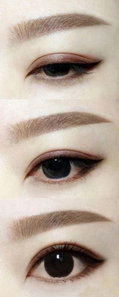 Exquisite eye makeup thrush