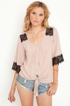 #DIY lace trim and shoulder embellishment top