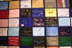 On Sept. 13, 2001, students from New York University made a memorial quilt for the victims.
