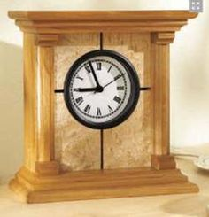 31-MD-00285+-+Architectural+Clock+Woodworking+Plan.