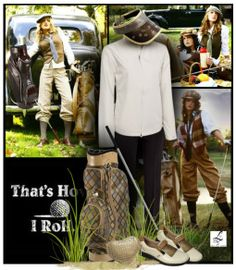 This is how we roll on the golf course! See this fantastic collection in lorisgolfshoppe.polyvore.com #golf #fashion #ootd #polyvore #lorisgolfshoppe