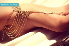 Bohemian Gold-Plated Anklet - Choice of 2!