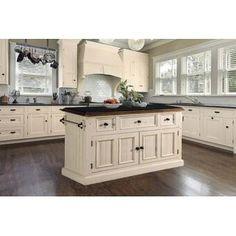 Lark Manor Tiphaine Kitchen Island with Granite Top & Reviews | Wayfair