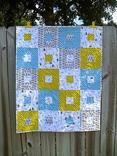 Baby quilt made from 5 fat quarters and very little planning.