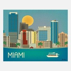 Miami Print, $22, now featured on Fab.