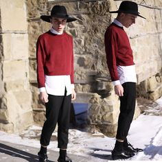 Urban Outfitters Hat, Zara Sweater, Topman Button Up, American Apparel Pleated Pants, Depression Shoes