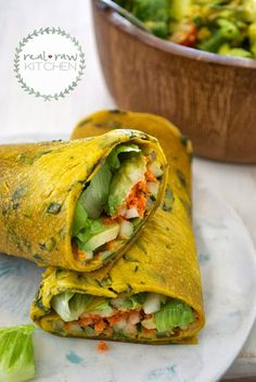 Mango Coconut Basil Wraps (raw, vegan)