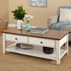 Shop a great selection of Simple Living Charleston Coffee Table. Find new offer and Similar products for Simple Living Charleston Coffee Table. White Distressed Coffee Table, Solid Wood Coffee Table, White Coffee, White Wood, Wood Table, Coffee Table Walmart, Coffee Table With Shelf, Coffee Tables, Coffee Coffee