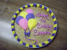 Sugar Cookie Cake Bake off! Giant Cookie Recipes, Giant Cookie Cake, Sugar Cookie Cakes, Cupcake Cakes, Giant Cookies, Cookie Cake Decorations, Cookie Cake Designs, Cake Decorating Designs, Cookie Decorating