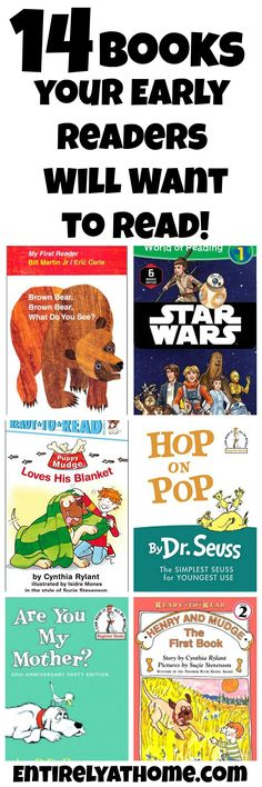 Looking for books that your  early readers will like? Here is a list if books your kids will enjoy reading!